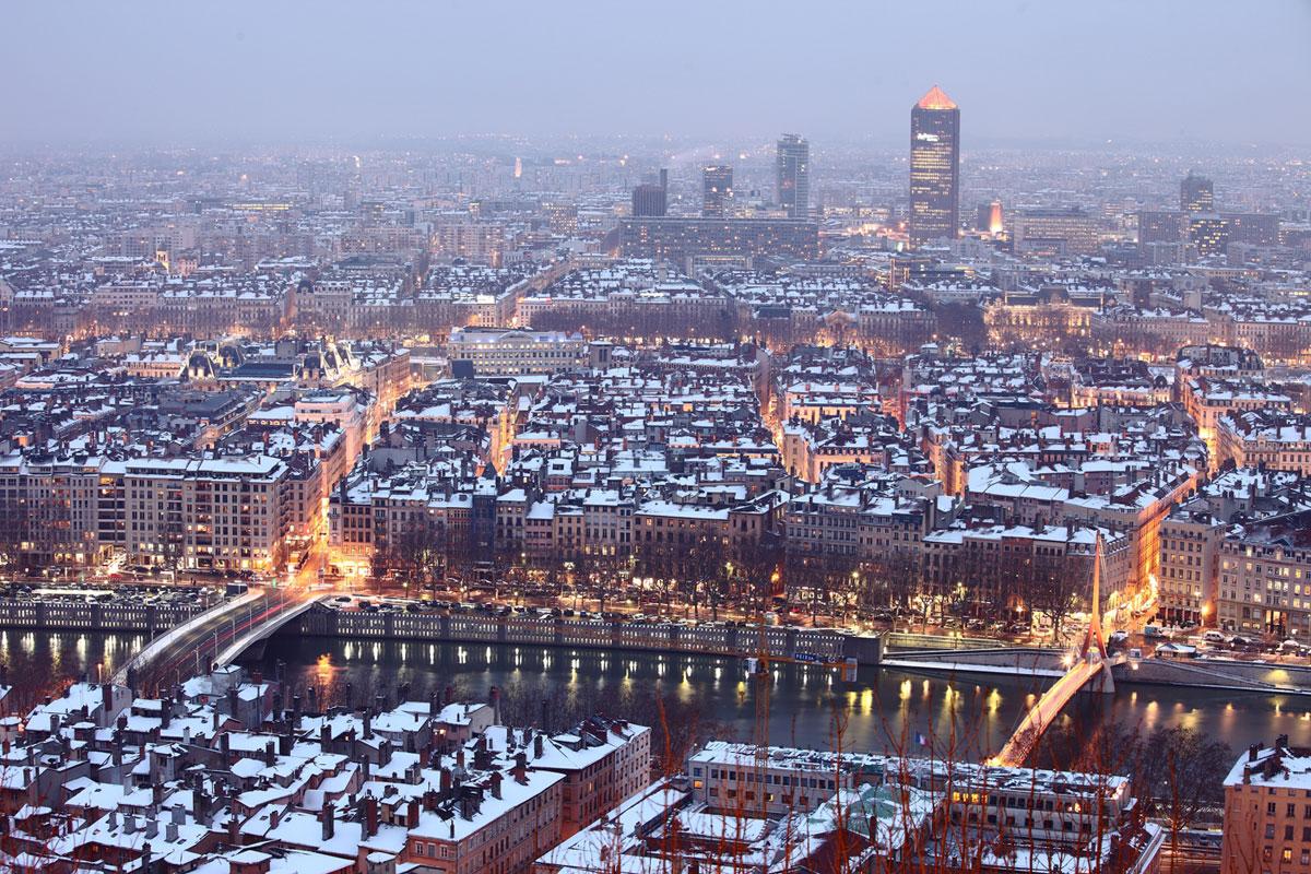 Lyon un soir d' hiver
